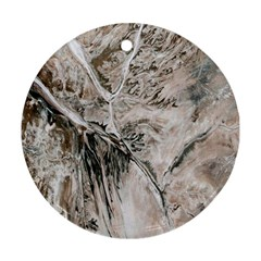 Earth Landscape Aerial View Nature Ornament (round)