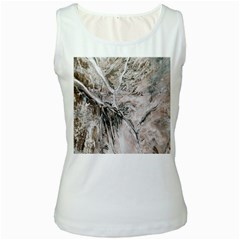 Earth Landscape Aerial View Nature Women s White Tank Top