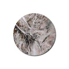 Earth Landscape Aerial View Nature Rubber Round Coaster (4 pack)