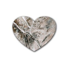 Earth Landscape Aerial View Nature Rubber Coaster (heart)