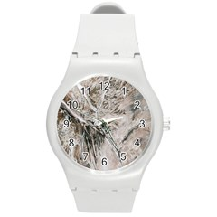 Earth Landscape Aerial View Nature Round Plastic Sport Watch (m)