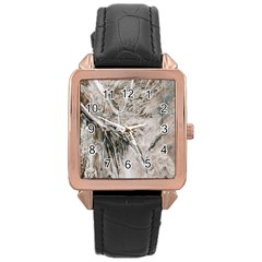 Earth Landscape Aerial View Nature Rose Gold Leather Watch