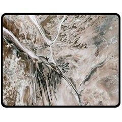Earth Landscape Aerial View Nature Double Sided Fleece Blanket (Medium)