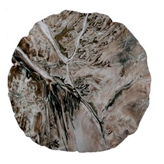 Earth Landscape Aerial View Nature Large 18  Premium Flano Round Cushions