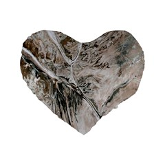 Earth Landscape Aerial View Nature Standard 16  Premium Flano Heart Shape Cushions