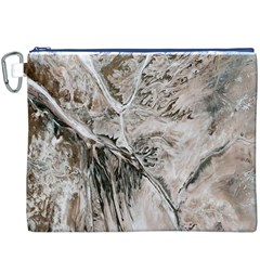 Earth Landscape Aerial View Nature Canvas Cosmetic Bag (XXXL)