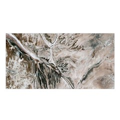 Earth Landscape Aerial View Nature Satin Shawl