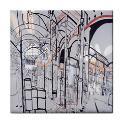Cityscapes England London Europe United Kingdom Artwork Drawings Traditional Art Tile Coasters