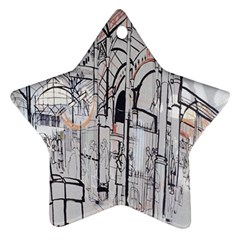 Cityscapes England London Europe United Kingdom Artwork Drawings Traditional Art Ornament (star)