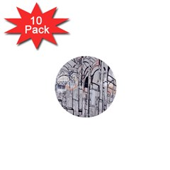 Cityscapes England London Europe United Kingdom Artwork Drawings Traditional Art 1  Mini Buttons (10 Pack)