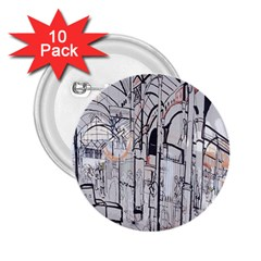 Cityscapes England London Europe United Kingdom Artwork Drawings Traditional Art 2 25  Buttons (10 Pack)