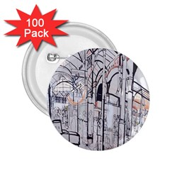 Cityscapes England London Europe United Kingdom Artwork Drawings Traditional Art 2 25  Buttons (100 Pack)