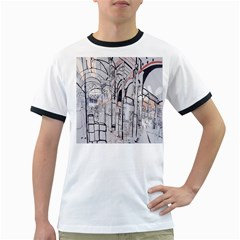 Cityscapes England London Europe United Kingdom Artwork Drawings Traditional Art Ringer T Shirts