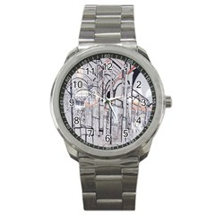 Cityscapes England London Europe United Kingdom Artwork Drawings Traditional Art Sport Metal Watch