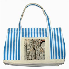 Cityscapes England London Europe United Kingdom Artwork Drawings Traditional Art Striped Blue Tote Bag