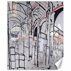 Cityscapes England London Europe United Kingdom Artwork Drawings Traditional Art Canvas 16  x 20