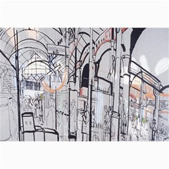 Cityscapes England London Europe United Kingdom Artwork Drawings Traditional Art Canvas 20  X 30