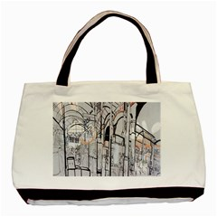 Cityscapes England London Europe United Kingdom Artwork Drawings Traditional Art Basic Tote Bag (Two Sides)