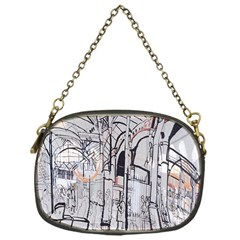 Cityscapes England London Europe United Kingdom Artwork Drawings Traditional Art Chain Purses (one Side)