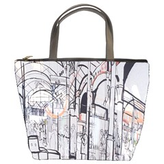 Cityscapes England London Europe United Kingdom Artwork Drawings Traditional Art Bucket Bags
