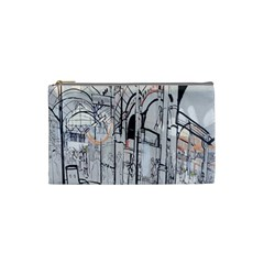 Cityscapes England London Europe United Kingdom Artwork Drawings Traditional Art Cosmetic Bag (Small)