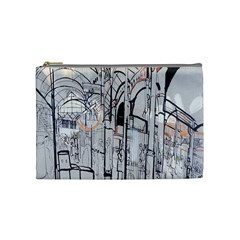 Cityscapes England London Europe United Kingdom Artwork Drawings Traditional Art Cosmetic Bag (medium)