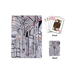 Cityscapes England London Europe United Kingdom Artwork Drawings Traditional Art Playing Cards (mini)