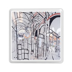 Cityscapes England London Europe United Kingdom Artwork Drawings Traditional Art Memory Card Reader (square)