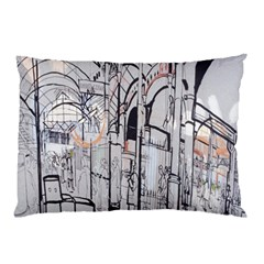 Cityscapes England London Europe United Kingdom Artwork Drawings Traditional Art Pillow Case (two Sides)