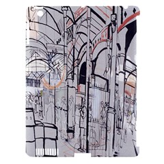 Cityscapes England London Europe United Kingdom Artwork Drawings Traditional Art Apple iPad 3/4 Hardshell Case (Compatible with Smart Cover)