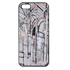 Cityscapes England London Europe United Kingdom Artwork Drawings Traditional Art Apple iPhone 5 Seamless Case (Black)