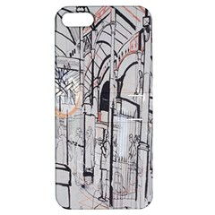 Cityscapes England London Europe United Kingdom Artwork Drawings Traditional Art Apple iPhone 5 Hardshell Case with Stand
