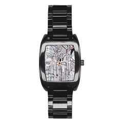 Cityscapes England London Europe United Kingdom Artwork Drawings Traditional Art Stainless Steel Barrel Watch