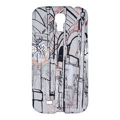 Cityscapes England London Europe United Kingdom Artwork Drawings Traditional Art Samsung Galaxy S4 I9500/I9505 Hardshell Case
