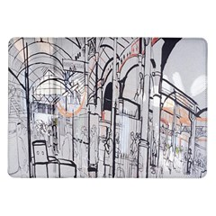 Cityscapes England London Europe United Kingdom Artwork Drawings Traditional Art Samsung Galaxy Tab 10.1  P7500 Flip Case