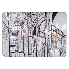 Cityscapes England London Europe United Kingdom Artwork Drawings Traditional Art Samsung Galaxy Tab 8.9  P7300 Flip Case
