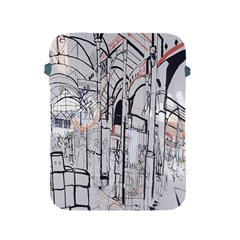 Cityscapes England London Europe United Kingdom Artwork Drawings Traditional Art Apple Ipad 2/3/4 Protective Soft Cases