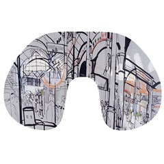 Cityscapes England London Europe United Kingdom Artwork Drawings Traditional Art Travel Neck Pillows