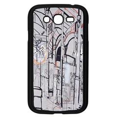Cityscapes England London Europe United Kingdom Artwork Drawings Traditional Art Samsung Galaxy Grand DUOS I9082 Case (Black)