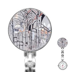 Cityscapes England London Europe United Kingdom Artwork Drawings Traditional Art Stainless Steel Nurses Watch