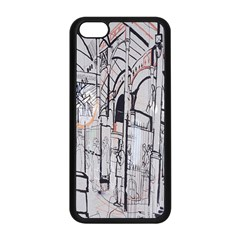 Cityscapes England London Europe United Kingdom Artwork Drawings Traditional Art Apple iPhone 5C Seamless Case (Black)