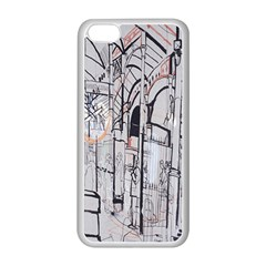 Cityscapes England London Europe United Kingdom Artwork Drawings Traditional Art Apple iPhone 5C Seamless Case (White)