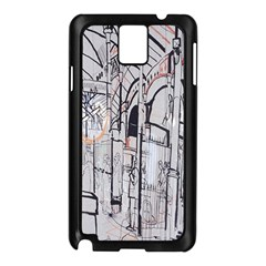 Cityscapes England London Europe United Kingdom Artwork Drawings Traditional Art Samsung Galaxy Note 3 N9005 Case (Black)