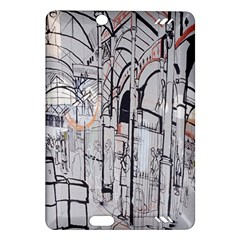 Cityscapes England London Europe United Kingdom Artwork Drawings Traditional Art Amazon Kindle Fire Hd (2013) Hardshell Case