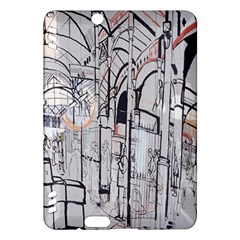 Cityscapes England London Europe United Kingdom Artwork Drawings Traditional Art Kindle Fire HDX Hardshell Case