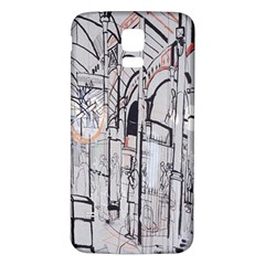 Cityscapes England London Europe United Kingdom Artwork Drawings Traditional Art Samsung Galaxy S5 Back Case (White)