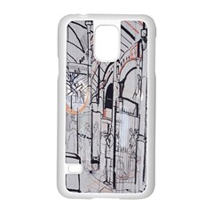 Cityscapes England London Europe United Kingdom Artwork Drawings Traditional Art Samsung Galaxy S5 Case (White)