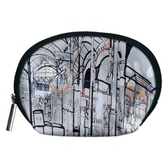 Cityscapes England London Europe United Kingdom Artwork Drawings Traditional Art Accessory Pouches (Medium)