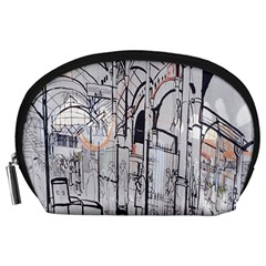 Cityscapes England London Europe United Kingdom Artwork Drawings Traditional Art Accessory Pouches (Large)