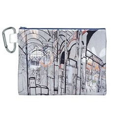 Cityscapes England London Europe United Kingdom Artwork Drawings Traditional Art Canvas Cosmetic Bag (xl)